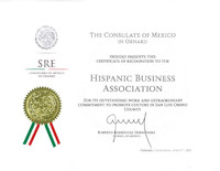Recognition by Mexican Consulate